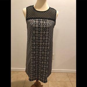 Xhilaration Black shift dress with lace neckline